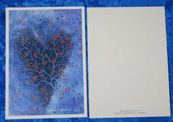 Postikortti syksyn värit sydämessä