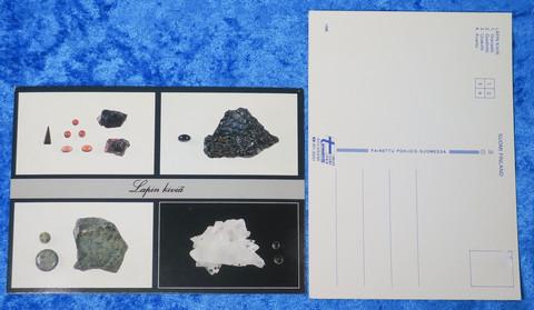 Postikortti lapin kiviä