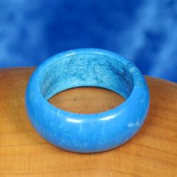 Kivisormus 19mm  turkoosin värinen magnesiitti, värjätty 10mm
