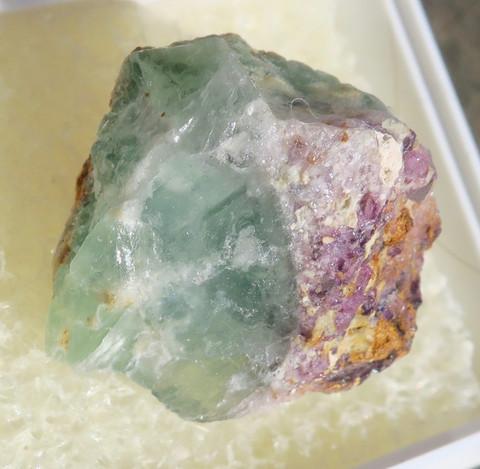 Fluoriitti raaka violetti, vihreä 20mm nro 8R13
