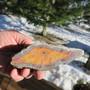 Karneoligeodin pala hieno oranssinkeltainen  413g 15x5x4cm Hi71 video
