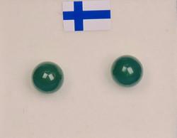Nappikorvakorut akaatti vihreä 6mm