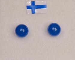 Nappikorvakorut akaatti sininen 6mm