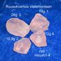 Ruusukvartsi viistehiontaan raaka, extra hieno 12g nro hiruvh4