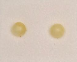 Nappikorvakorut keltainen kalsiitti 6mm, 925-hopea