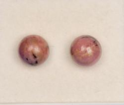 Nappikorvakorut rodoniitti 8mm, 925-hopea