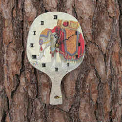 Seinäkello elefantti leipälapion mallinen puukello 24x15cm