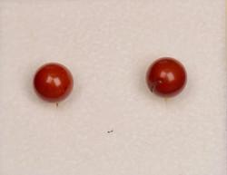 Nappikorvakorut punainen jaspis 6mm