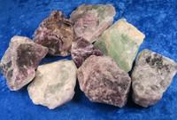 Fluoriitti violetti tai vihreä raakapala 40-50g Kiina