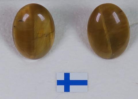 Klipsikorvakorut tiikerinsilmä ovaali t12x18mm, kookkaat
