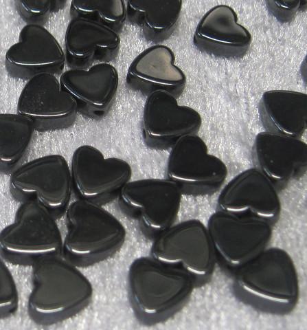 Hematiitti tasapaksu sydän 6mm irtohelmi