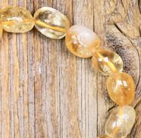 Sitriini rumpuhiottu 8-15mm onnenkivi irtohelmi