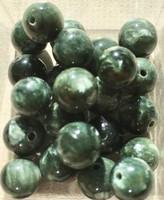 Klinokloori 8mm vihreänvalkoinen irtohelmi