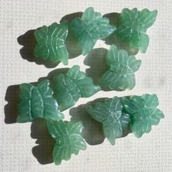 Aventuriini vihreä perhonen 12x16mm irtohelmi