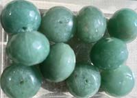 Aventuriini vihreä viistehiottu 12x15mm irtohelmi