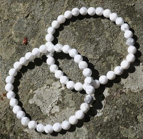 Rannekoru magnesiitti valkoinen 6mm
