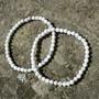 Rannekoru magnesiitti valkoinen 4mm