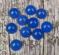 Kapussi akaatti sininen 8mm pyöreä cabochon