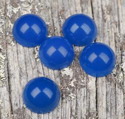 Kapussi akaatti sininen 10mm pyöreä cabochon
