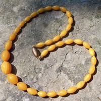 Helmet meripihka keltainen soikea 52cm magneettilukko Amber5