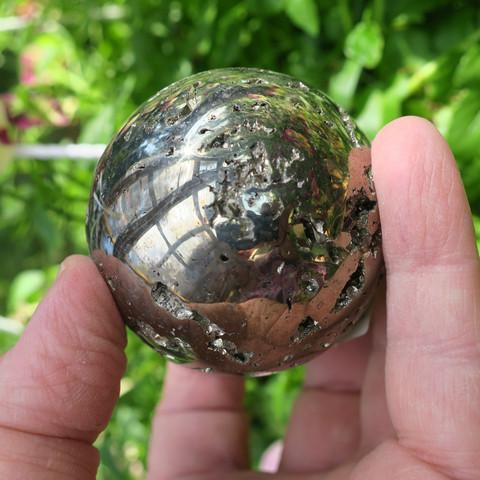 Pyriitti pallo 57mm 429g kivipallo Peru 49s5