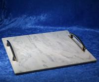 Kivitarjotin 305x305mm marmori, kullan väriset kahvat TR13