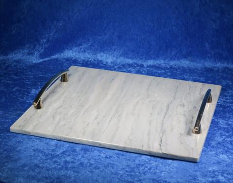 Kivitarjotin marmori 300x295mm, kullan väriset kahvat TR11