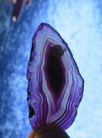Akaattilevy violetti 70x35mm siivu LE