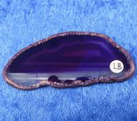 Akaattilevy violetti 80x35mm siivu LB