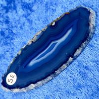 Akaattilevy sininen 80x30mm  siivu SE