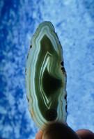 Akaattilevy vihreä 75x30mm siivu VD