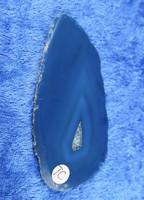 Akaattilevy sinivihreä 75x35mm  siivu TC