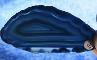 Akaattilevy sinivihreä 80x40mm siivu TE