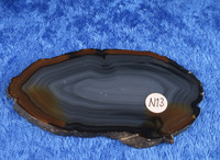 Akaattilevy natural  72x39x4mm  siivu  N13