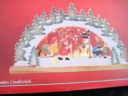 Kynttelikkö, jouluaiheinen, led-valoin