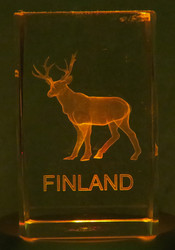 Kristallikuutio 6cm Poro, Lapland