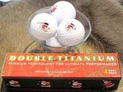 Golfpallot 4kpl setti, joulupukin kuvalla
