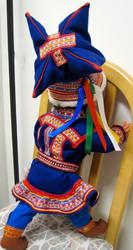 Nukke Lapinnukke 60 cm poika lapinpuvussa