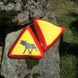 Tyyny varoituskolmio hirvi
