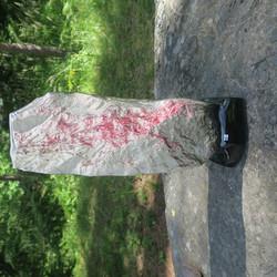 Maljakko Vuori, takaseinä L, korkeus 37cm keramiikkaa punainen