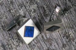 Kalvosinnapit Spektroliitti neliöt, 925-hopea
