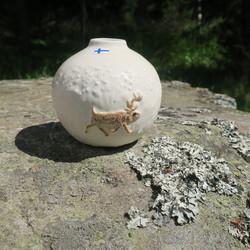 Maljakko Talviporo, korkeus 7cm pyöreä vaasi