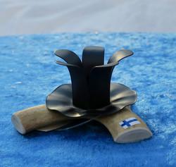 Kynttilänjalka poronsarvi 9-10cm 1 kynttilälle