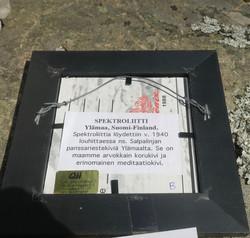 Taulu spektroliitti purjelaiva 15x15cm Ylämaa Suomi nroB
