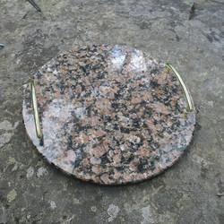 Tarjotin graniitti kivitarjotin 29,5cm pyöreä nroTR4