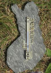 Lämpömittari hopealoimu liuskekivi. Suomen vanhojen rajojen mallinen.