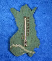 Lämpömittari  kromimarmori Suomen vanhojen rajojen muotoinen