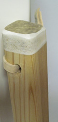Hiilikoukku, poronsarvikoristein, pituus 122cm