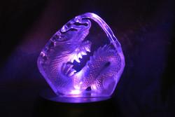 Lohikäärme dragon 7,5x7,8cm, litteä lasikoriste