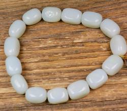 Rannekoru opaali kulmikas vihertävä joustavassa silikoninauhassa